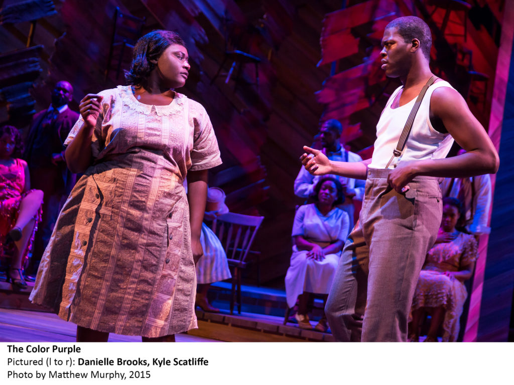purp_Danielle Brooks and Kyle Scatliffe in THE COLOR PURPLE photo by Matthew Murphy, 2015