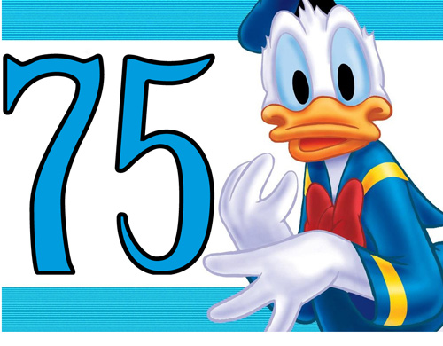 Lets count to 1000 ( pictures only )  - Page 3 Donald-duck-turns-75
