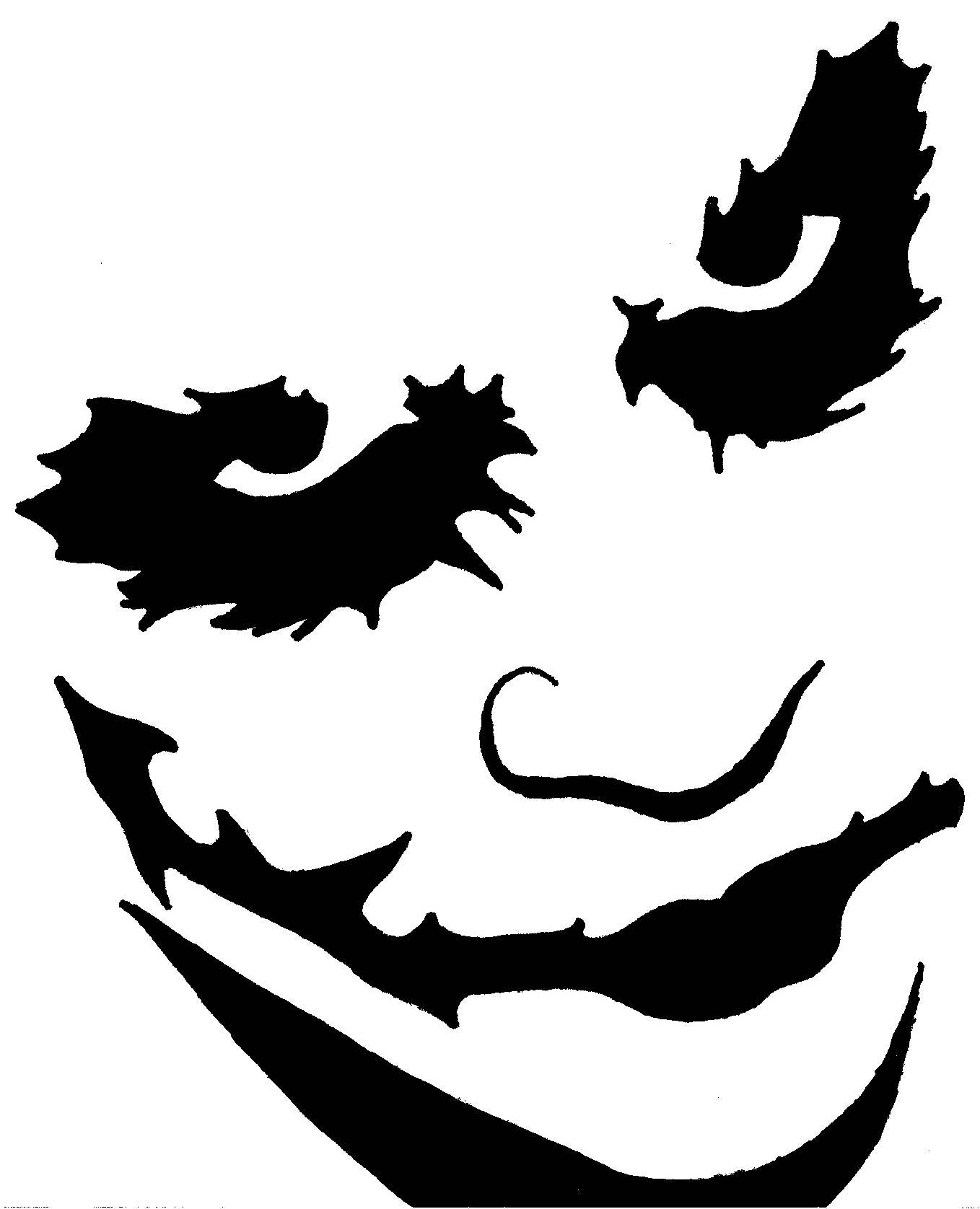 Joker pumpkin template