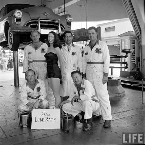 Nancy Pelosi was Miss Lube Rack